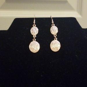 Textured Rose Gold Earrings